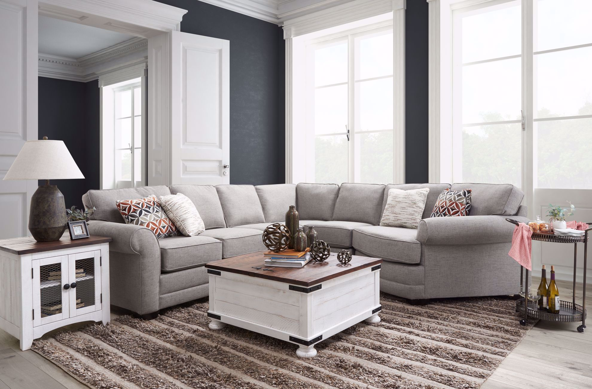 Picture of Hadley Grey Five Piece Sectional