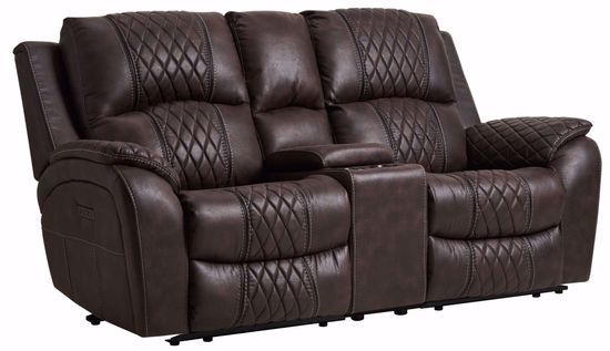 Picture of Karla Brown Power Reclining Console Loveseat