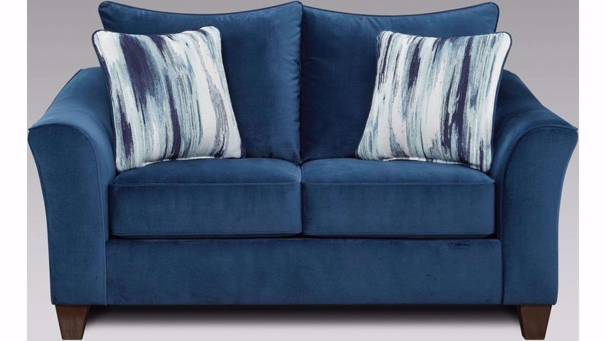 Picture of Velour Navy Loveseat