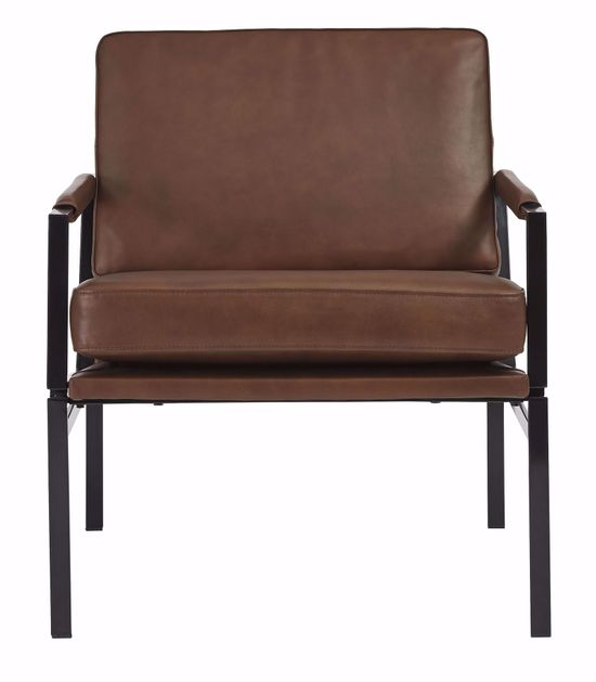 Picture of Puckman Brown Accent Chair