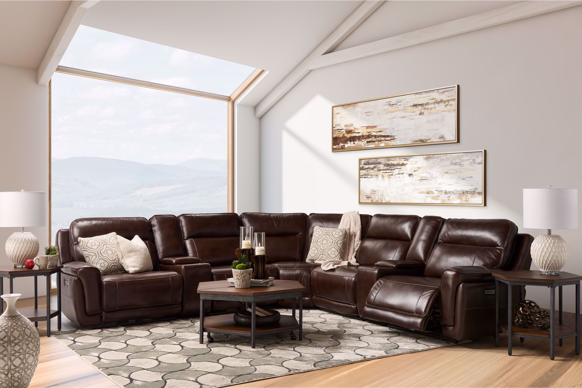 Picture of Hugo Espresso 7-Piece Power Reclining Sectional