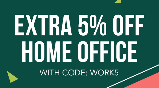 Extra 5% off Home Office with code: WORK5