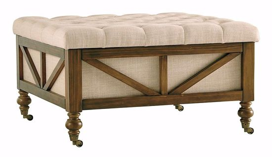 Picture of Kyleman Beige Storage Ottoman