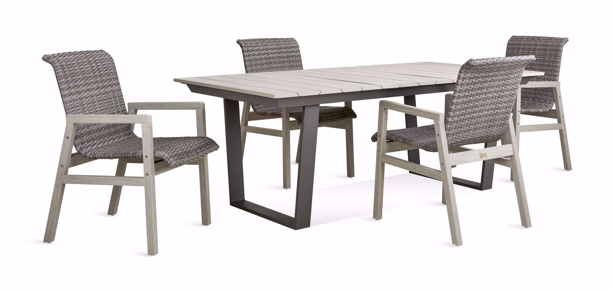 Picture of Bryce Dining Table & 4 Arm Chairs Set