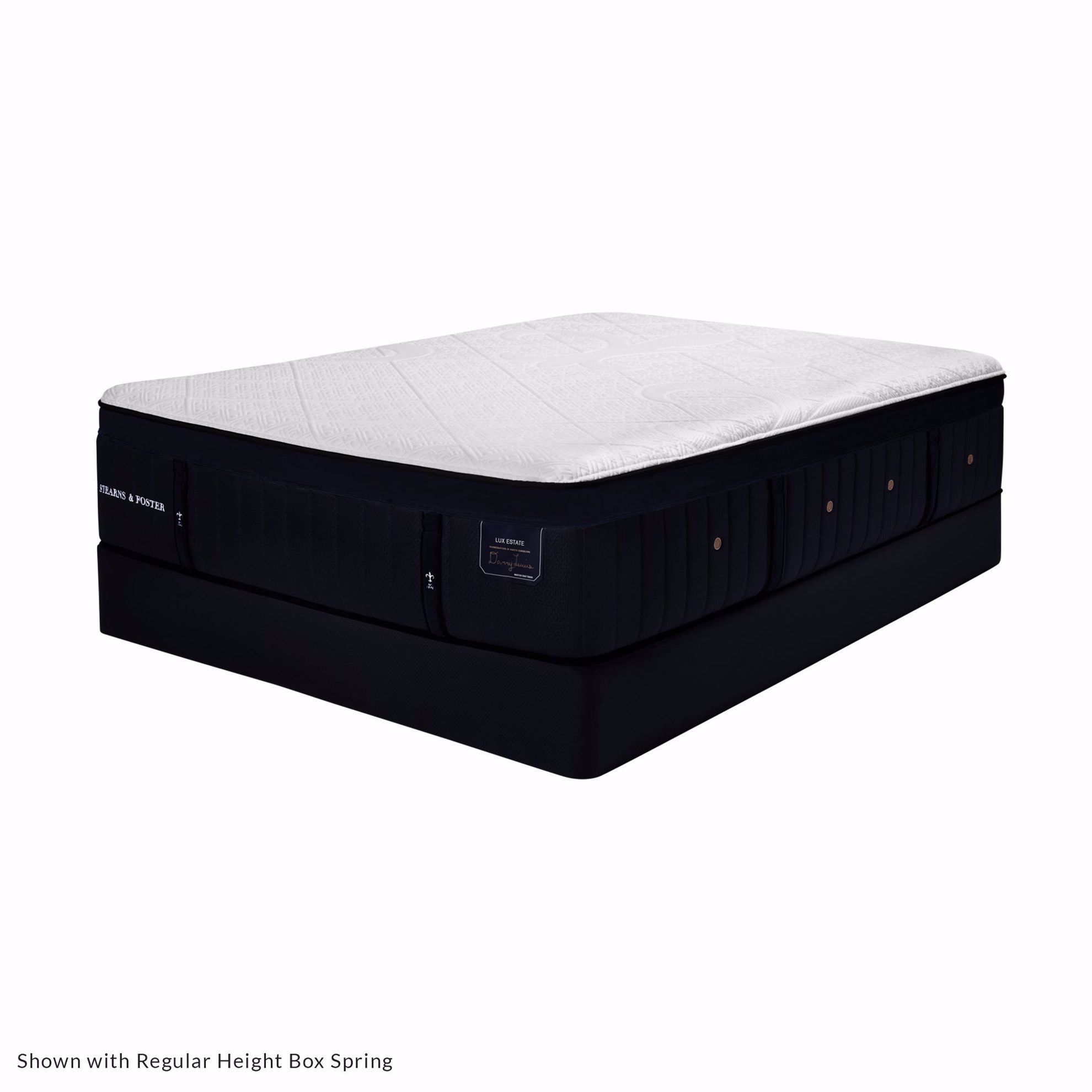 Picture of Stearns & Foster Pollock Luxury Ultra Plush Queen Mattress & Low Profile Foundation Set