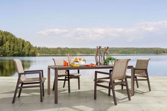 Picture of Kona Table & 4 Sling Arm Chair Set