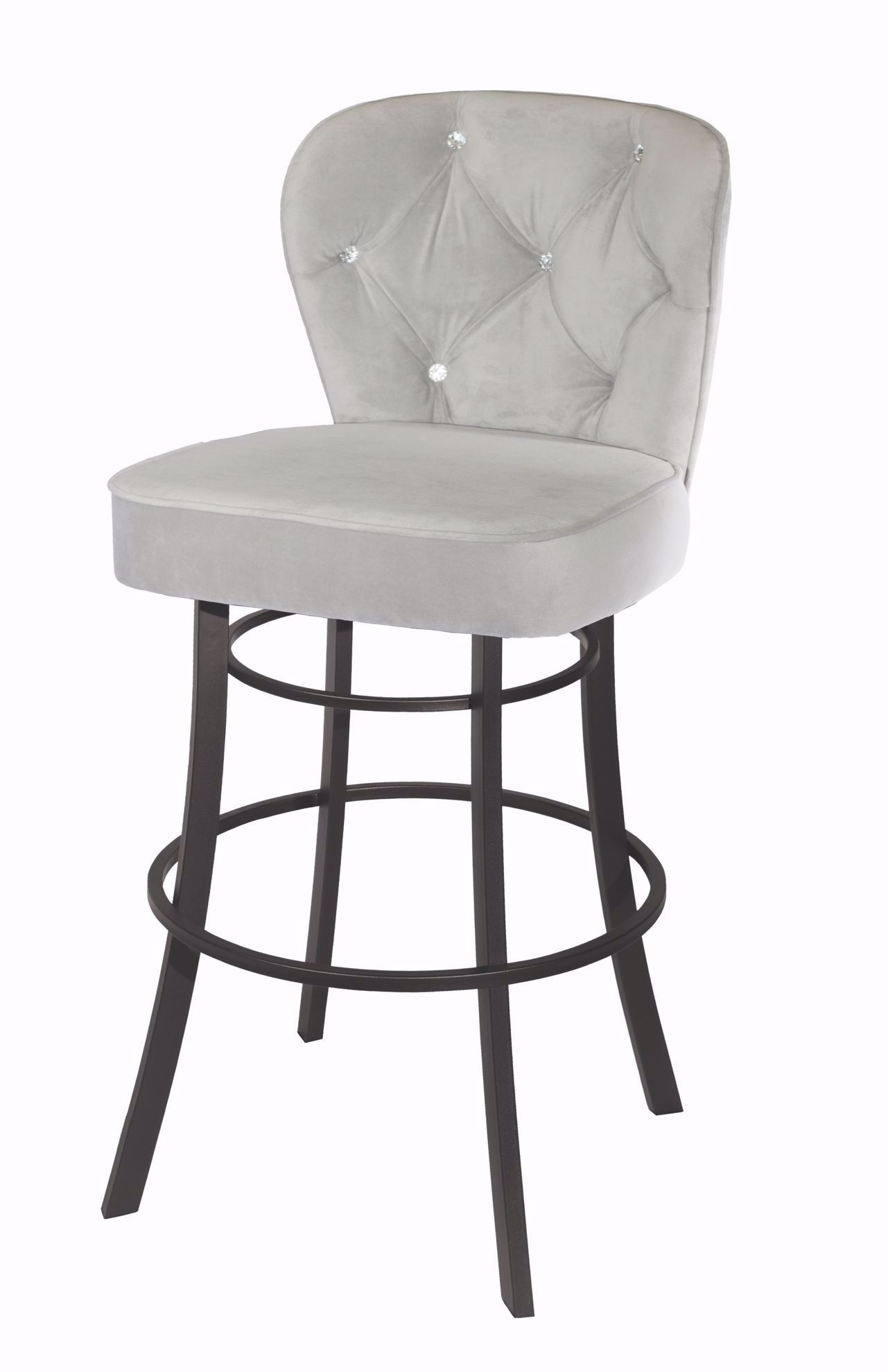 "Picture of Owen 30"" Grey Swivel Bar Stool"