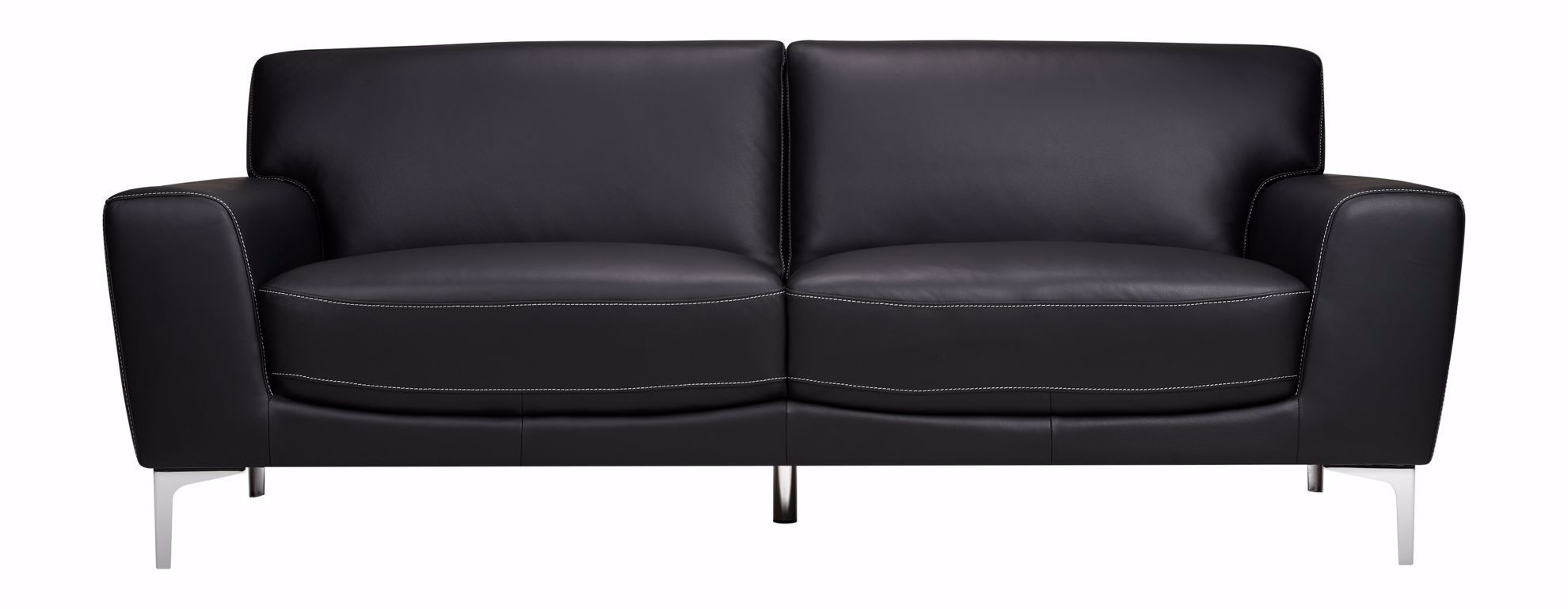 Picture of Carrara Black Leather Sofa