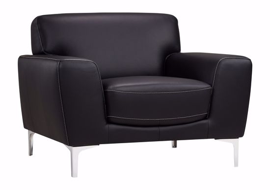 Picture of Carrara Black Leather Chair