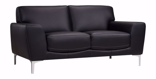 Picture of Carrara Black Leather Loveseat