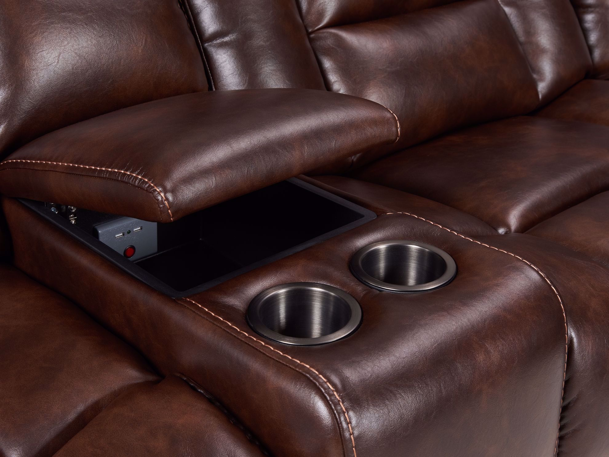 Picture of Frank Tobacco 7-Piece Power Recliner Sectional