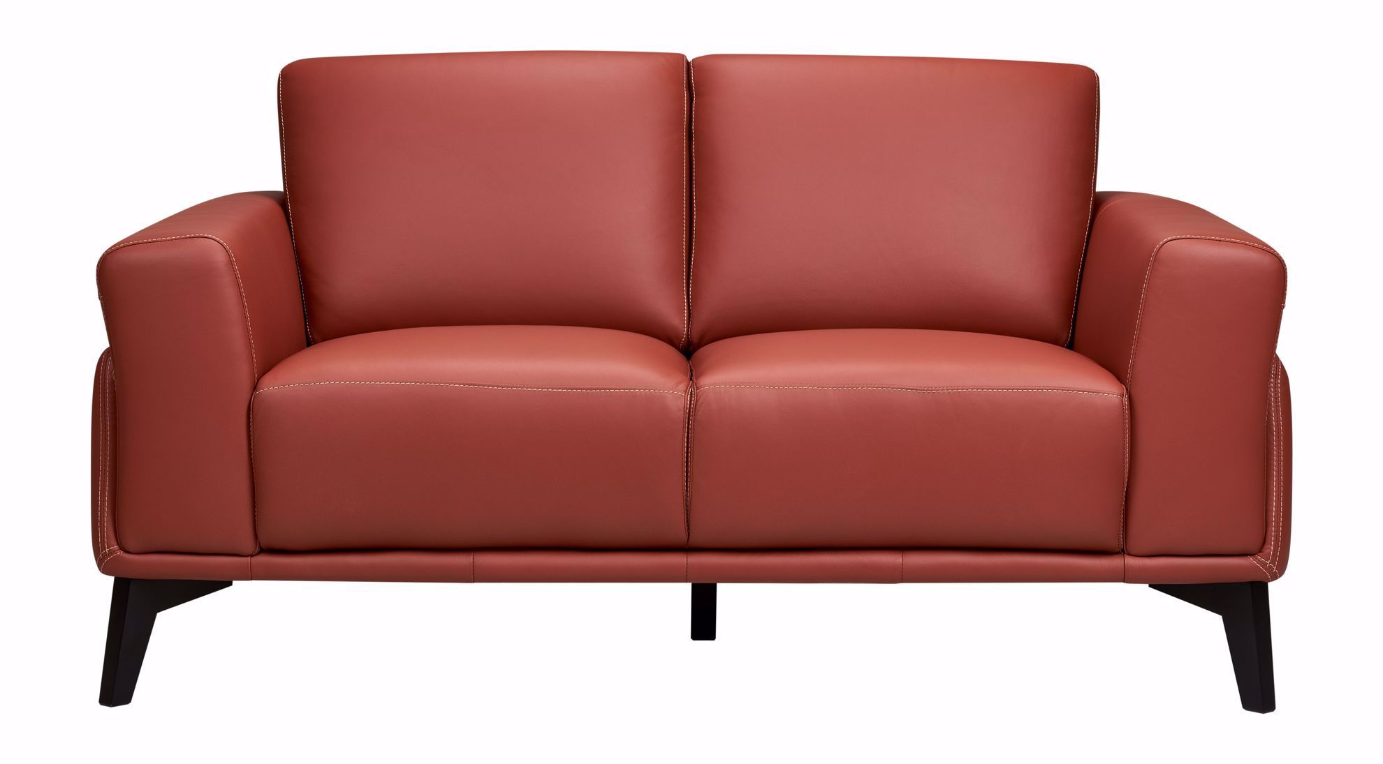 Picture of Como Terracotta Leather Loveseat