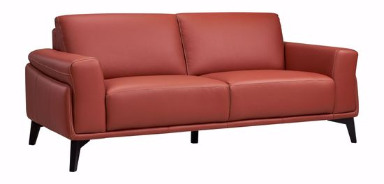 Picture of Como Terracotta Leather Sofa