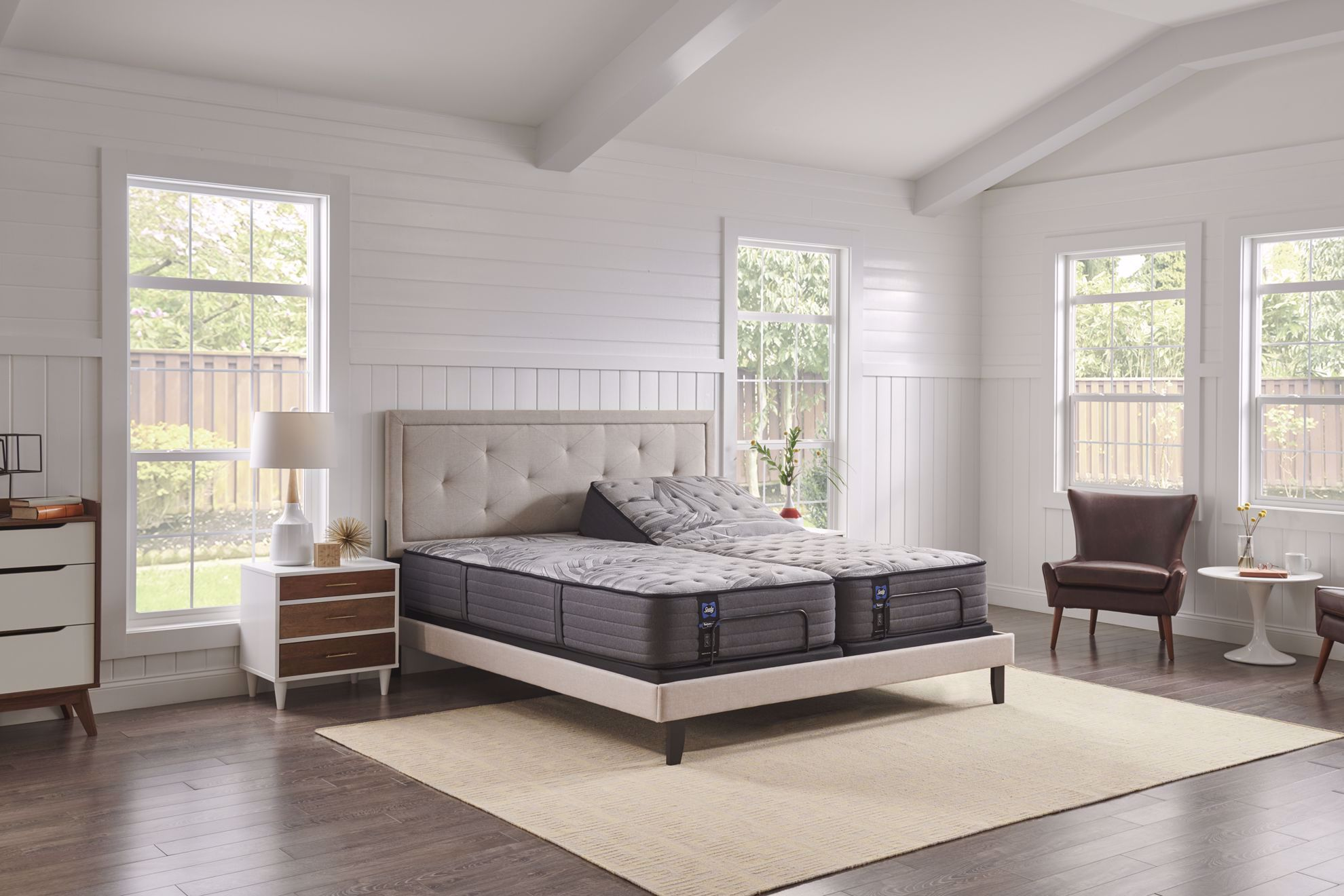 Picture of Sealy Posturepedic  Plus Satisfied Cushion Firm Queen Mattress Set