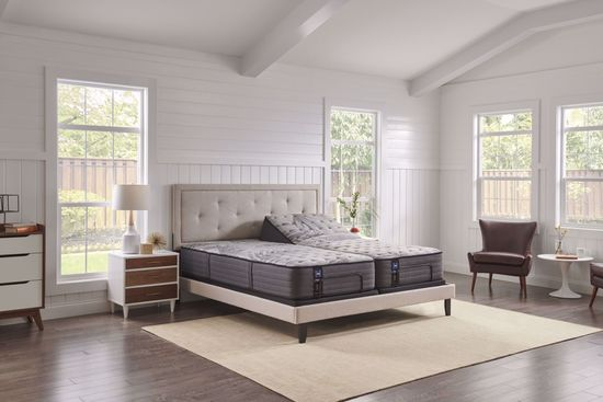 Picture of Sealy Posturepedic  Plus Satisfied Cushion Firm Twin Mattress Set