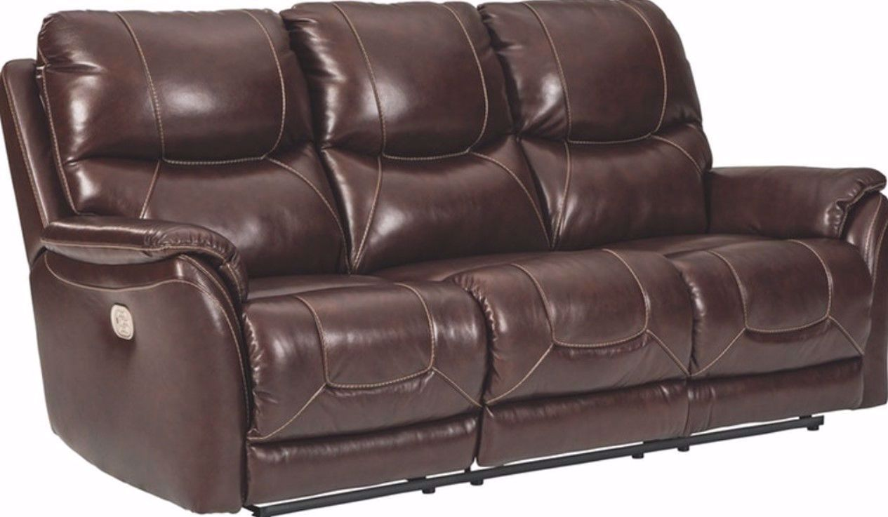 Picture of Mancelona Walnut Power Reclining Sofa