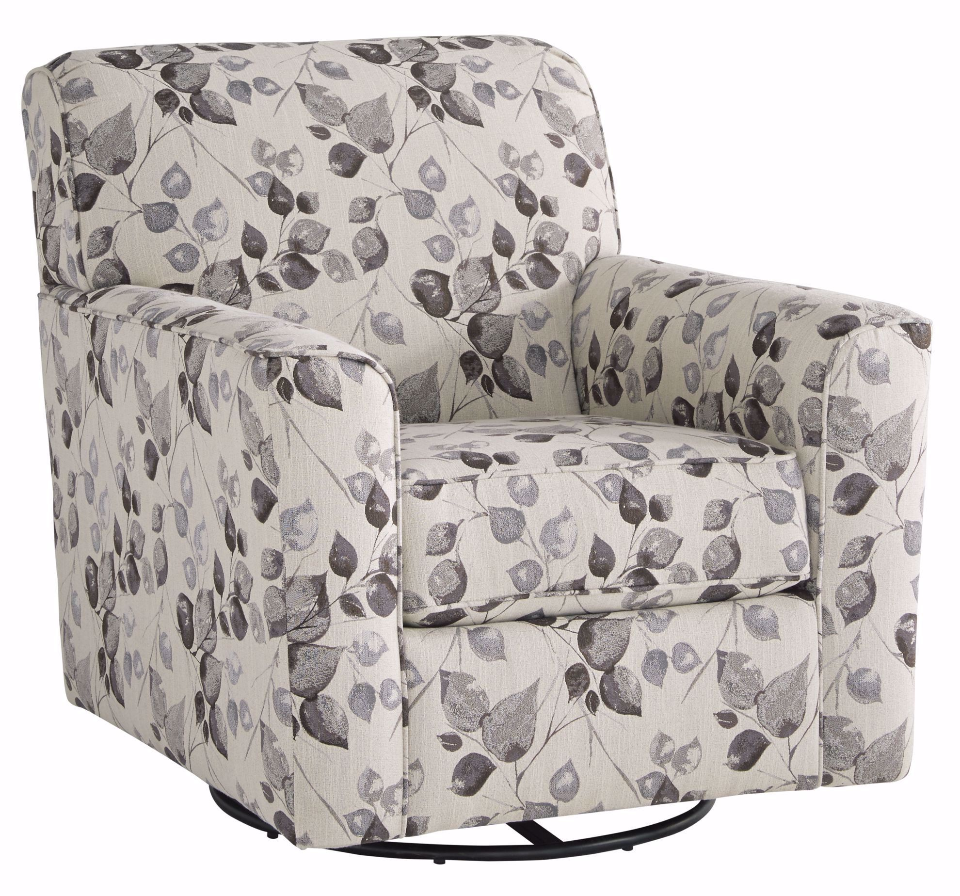 Picture of Abney Platinum Swivel Accent Chair