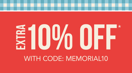 Extra 10% off with code: MEMORIAL10