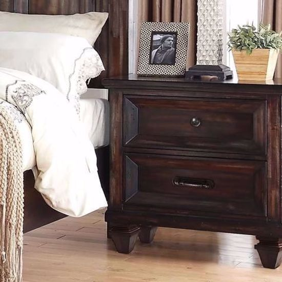 Picture of Sevilla Gray Nightstand with USB