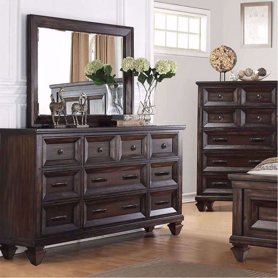 Picture of Sevilla Gray Dresser and Mirror
