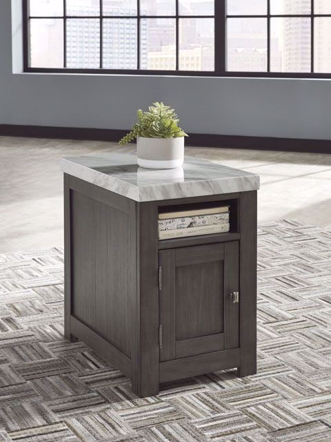 Picture of Vineburg Grey White Rectangle End Table
