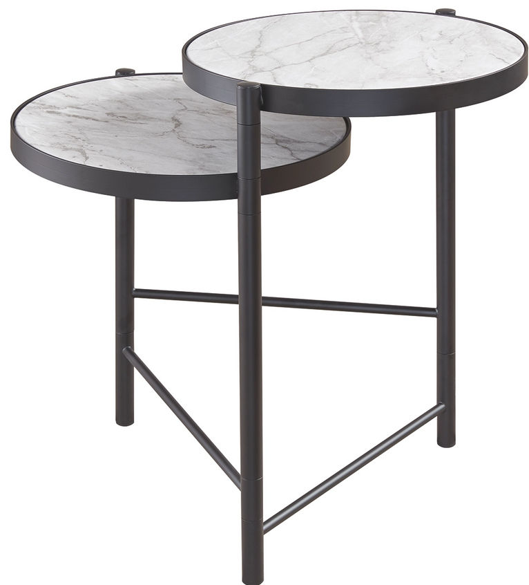 Picture of Plannore Black & White Round End Table