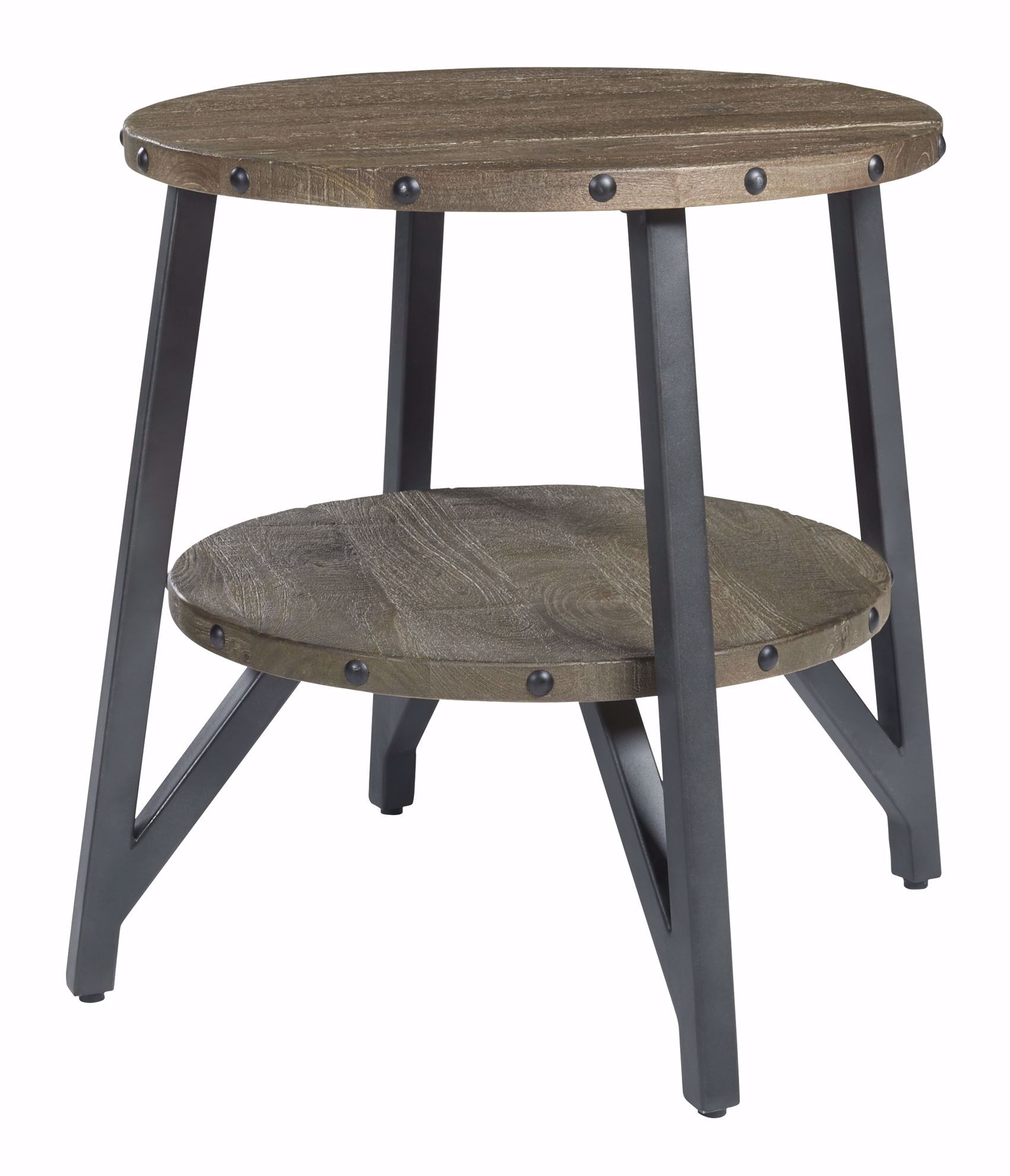 Picture of Haffenburg Brown Round End Table