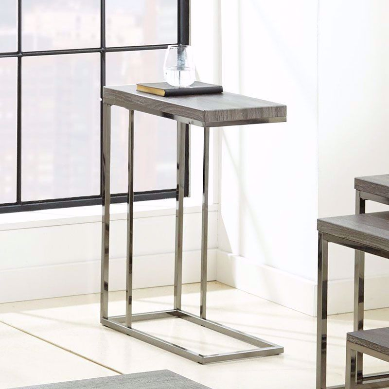 Picture of Lucia Gray-Black Chairside Table
