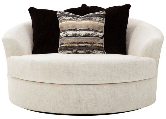 Picture of Cambri Snow Oversized Round Swivel Chair