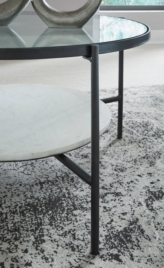 Picture of Zalany Black-White Round Cocktail Table