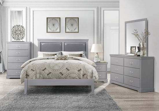 Picture of Lily Grey King Bed Set