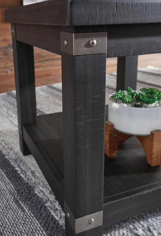 Picture of Delmar Black Rectangle End Table