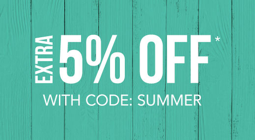 Extra 5% off* with code: SUMMER