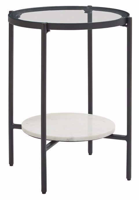 Picture of Zalany Black-White Round End Table