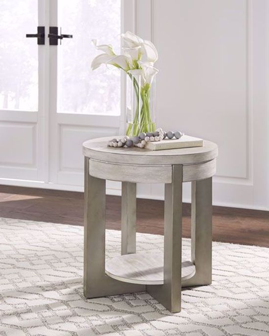 Picture of Urlander Whitewash Round End Table