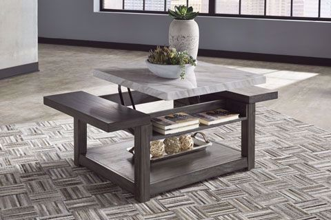 Picture of Vineburg Grey-White Lift Cocktail Table