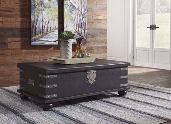 Picture of Delmar Black Lift Cocktail Table