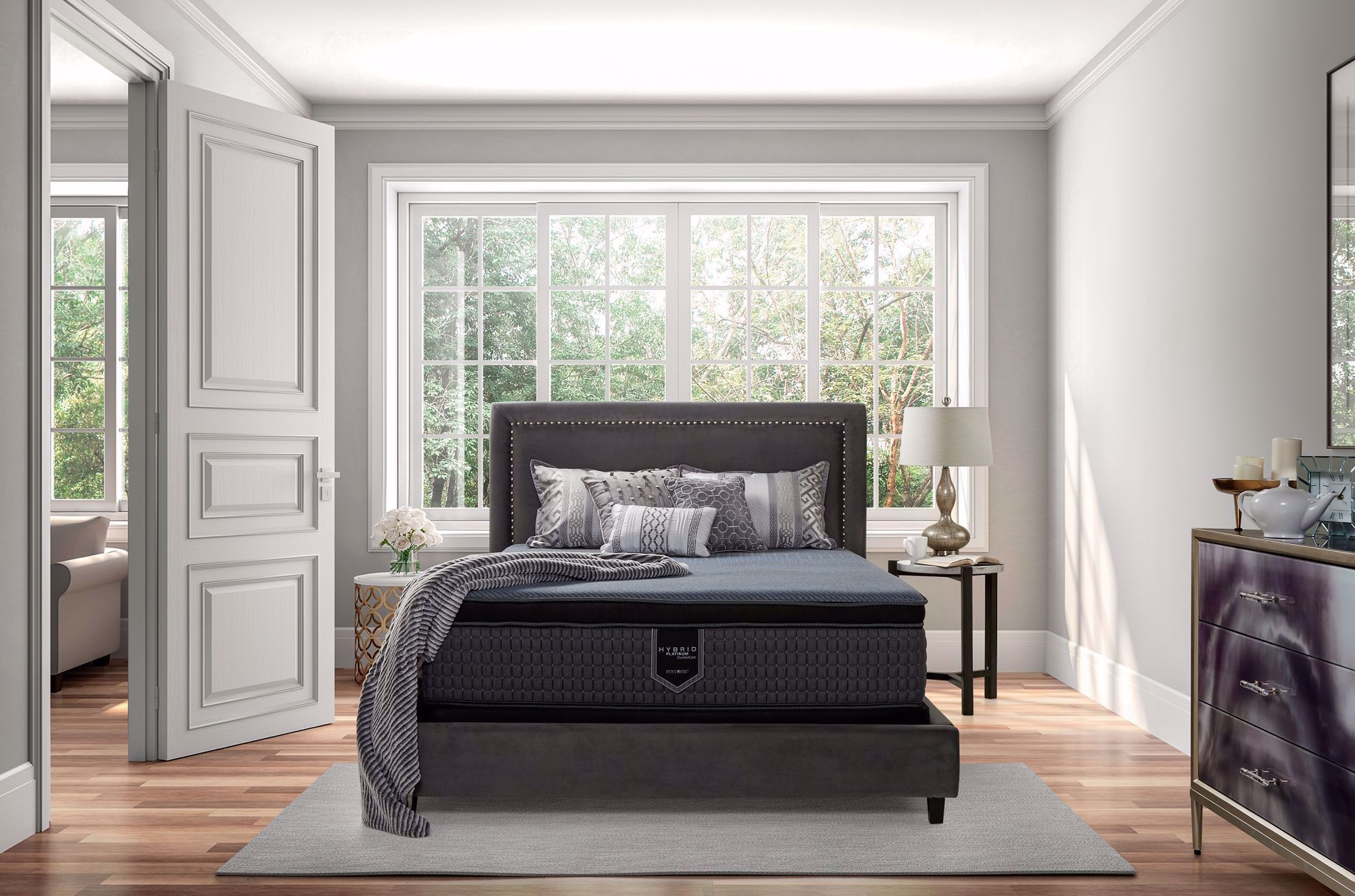 Picture of Restonic Endure Firm EuroTop Twin XL Mattress Set