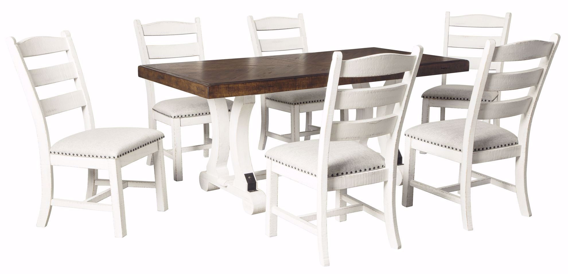 Valebeck Dining Table 6 Chairs The Furniture Mart