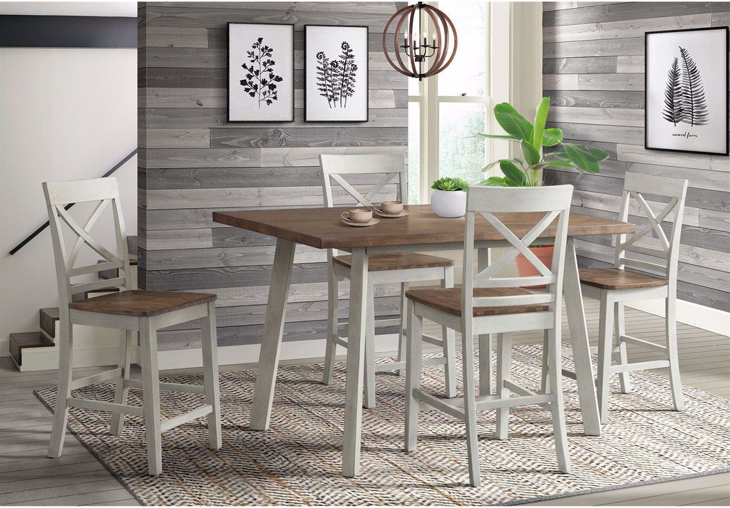 Picture of El Paso Grey Counter Height Table with 4 Chairs
