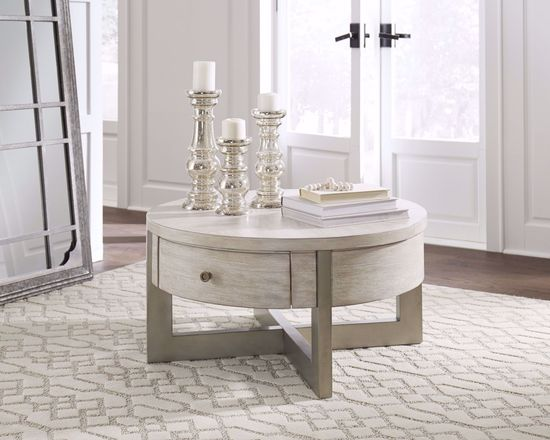 Picture of Urlander Whitewash Lift Cocktail Table
