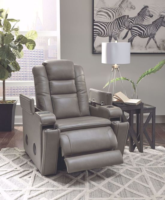 Picture of Boerna Gray Power Recliner