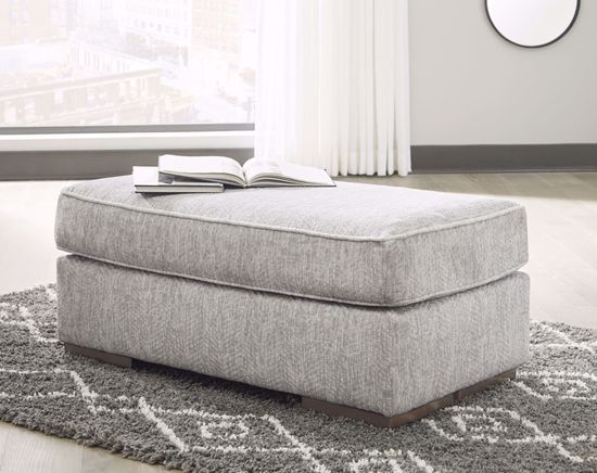 Picture of Mercado Pewter Ottoman