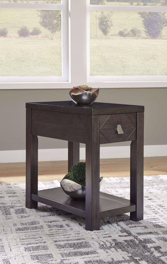Picture of Tariland Gray/Brown Chairside Table