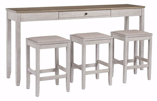 Picture of Skempton Sofa Bar Table & 3 Stool Set