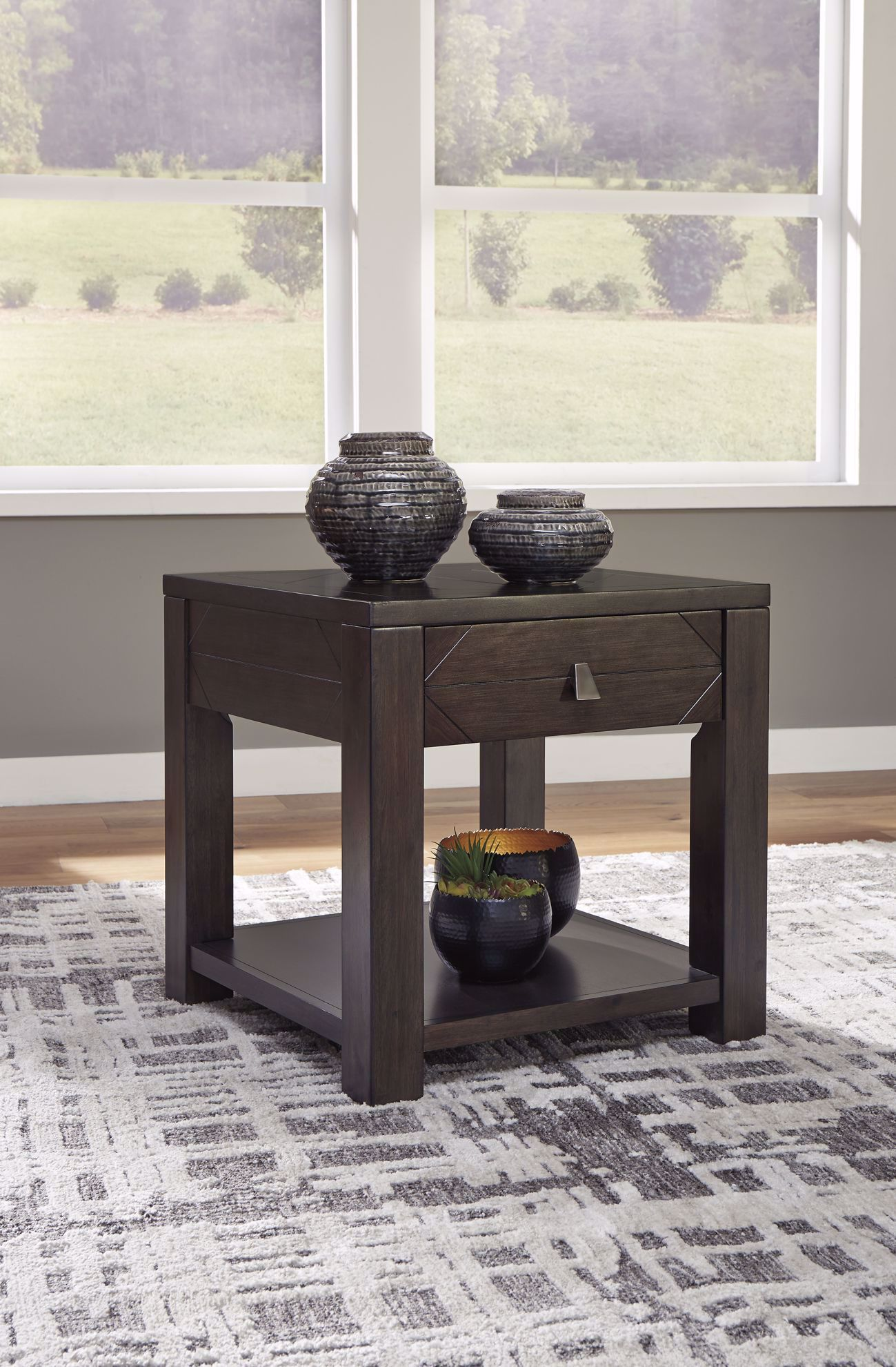 Picture of Tariland Grey/Brown Square End Table