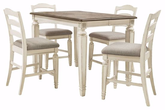 Picture of Realyn Square Counter Table & 4 Stools