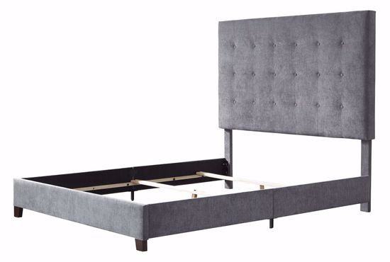 Picture of Dolante Gray Tufted Queen Bed Set