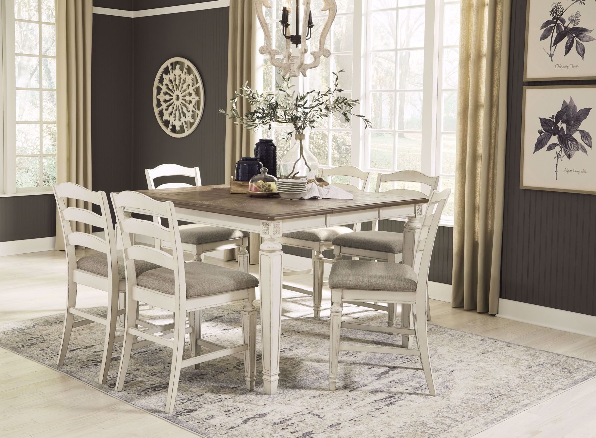Picture of Realyn Square Counter Table & 6 Stools