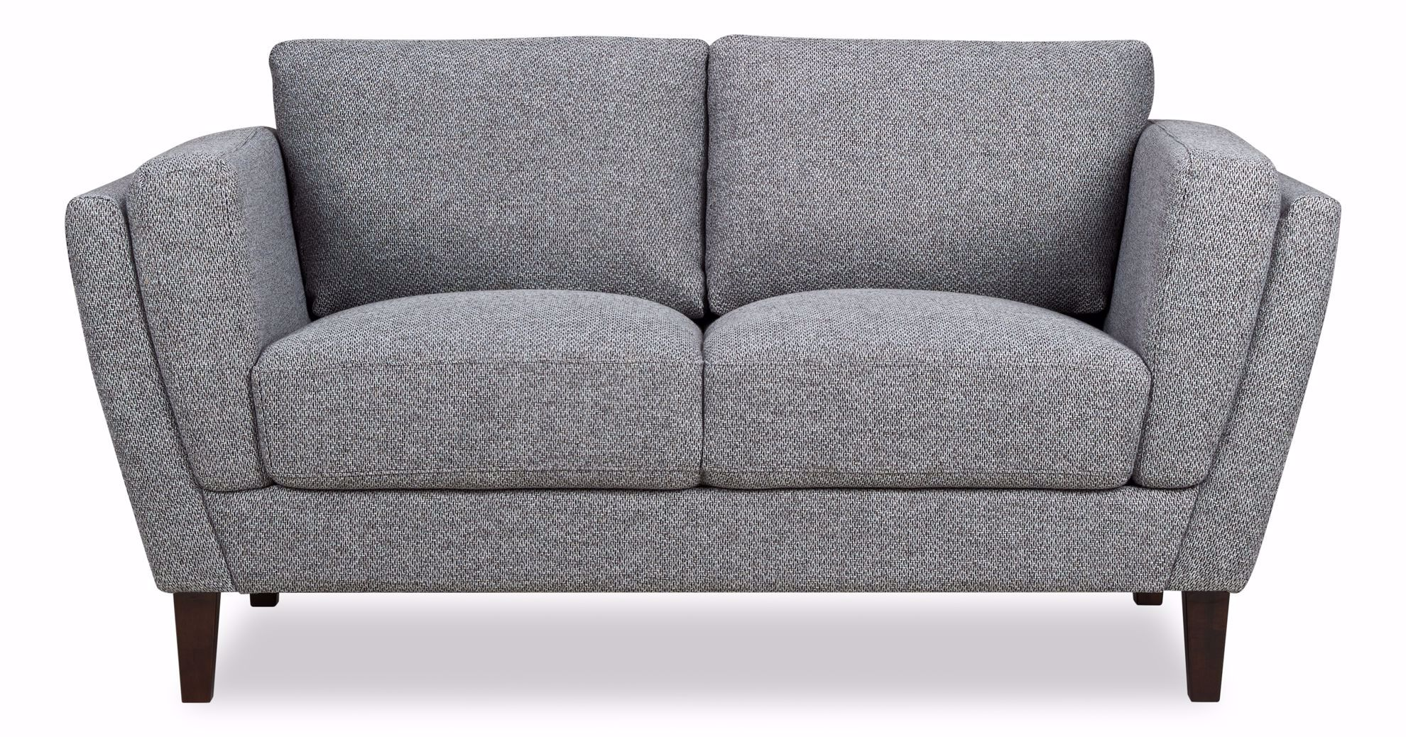 Picture of Hughes Grey Tweed Loveseat